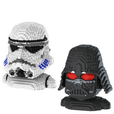 ALEN mini Qute movie star wars Stormtrooper Darth Vader super hero kids block plastic bu ...