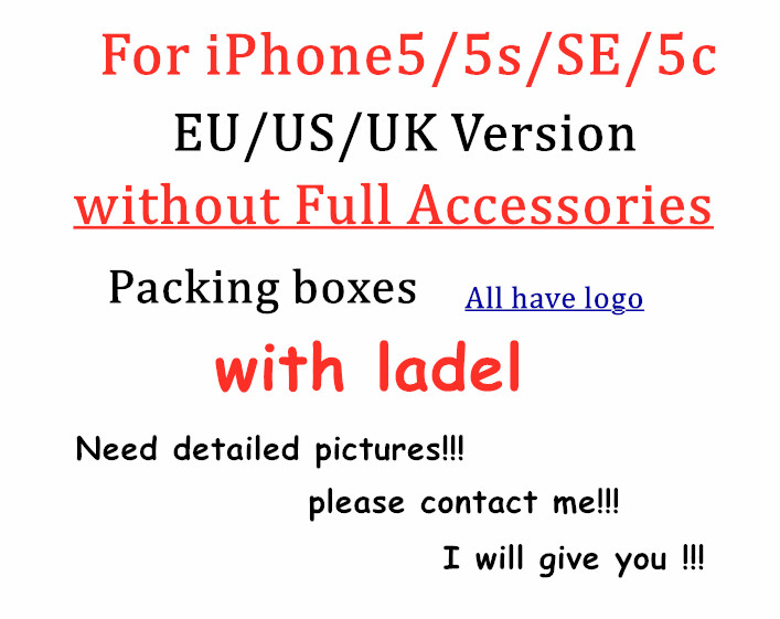 DHL 50pcs lot High Quality US EU UK Version Phone Packaging Packing Box Case For iPhone