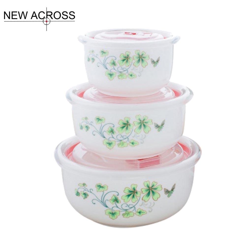 GUH Kitchenware Dinnerware Fresh Ceramics Bowl 3pcs/Set Microwave ...