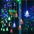 Возможность подключения 4 М/5 М под занавес рождественских деревьев сосулька струнные светильники светильники led Рождественская Сосулька Огни Рождество Свадьбы Украшения партии