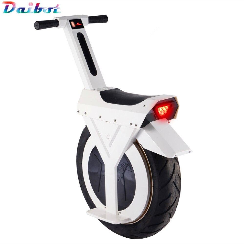 Novo monociclo scooter elétrico 500 w motocicleta hoverboard uma roda scooter skate monowheel bicicleta elétrica grande roda