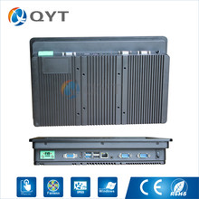 Aluminum shell 12 inch widescreen 1280×800 industrial touch panel PC Inter j1900 2.0GHz 2GB RAM 32GB SSD 1xRJ45 2xRS232 1xHDMI