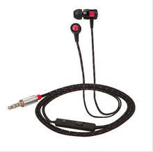 Em Fones De Ouvido com Microfone Cancelamento de Ruído Ativo 3D Estéreo Com Fio Fones de Ouvido Fone de Ouvido para Iphone Xiaomi Huawei Sony Notebook