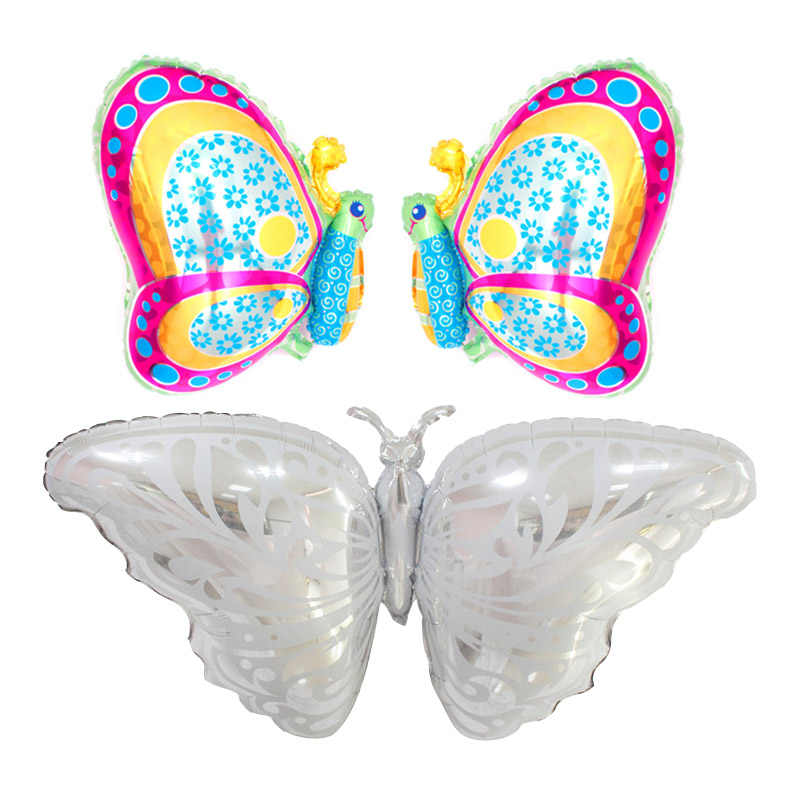 Large Silver Butterfly Balloons Animal Foil Balloons Wedding Balloons Wedding Decorations Birthday Party Decorations Supplies