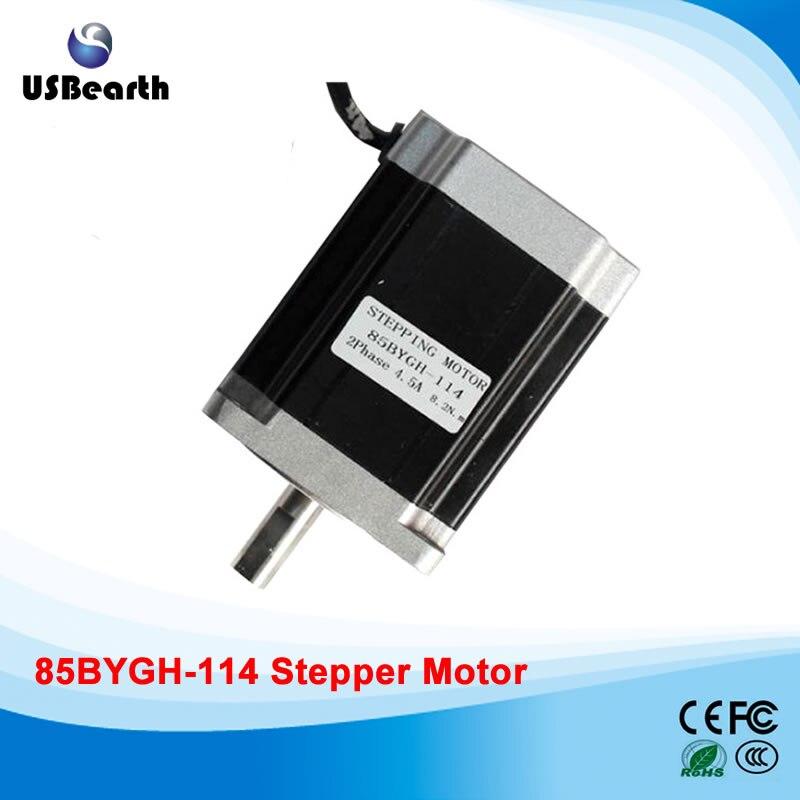 85 stepper motor stepper motor drive 85BYGH-114mm long moment 8.2N.m for cnc engraver rc2604h stepper motor drive 578 586