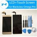 Blackview Omega Pro LCD + Сенсорный Экран Новые Прибыл Дисплей Планшета Стеклянная Панель в Сборе Для Blackview Omega Pro 5.0 Дюймов