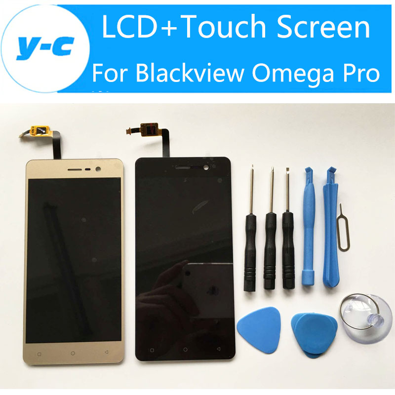 ФОТО Blackview Omega Pro LCD+Touch Screen New Arrived Display Digitizer Glass Panel Assembly For Blackview Omega Pro 5.0 Inch