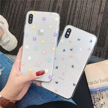 Cute Flower Phone Case For Samsung A80 A70 S8 A50 S9 note 10 9 8 S9 S7 edge a5 a8 a30 s10 plus s10e j6 Soft Silicone Cover Funda(China)