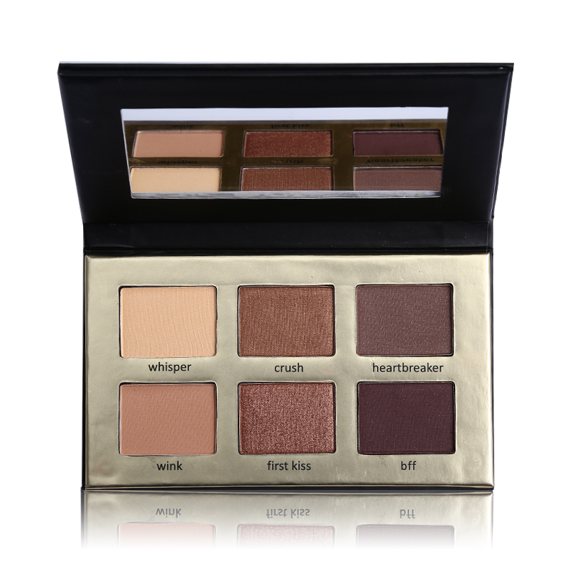 Brand Makeup Maquiagem 6 Color Nude Eye Shadow Matte Naked Eyeshadow Palette Makeup Eyelid Natural Waterproof Long-Lasting
