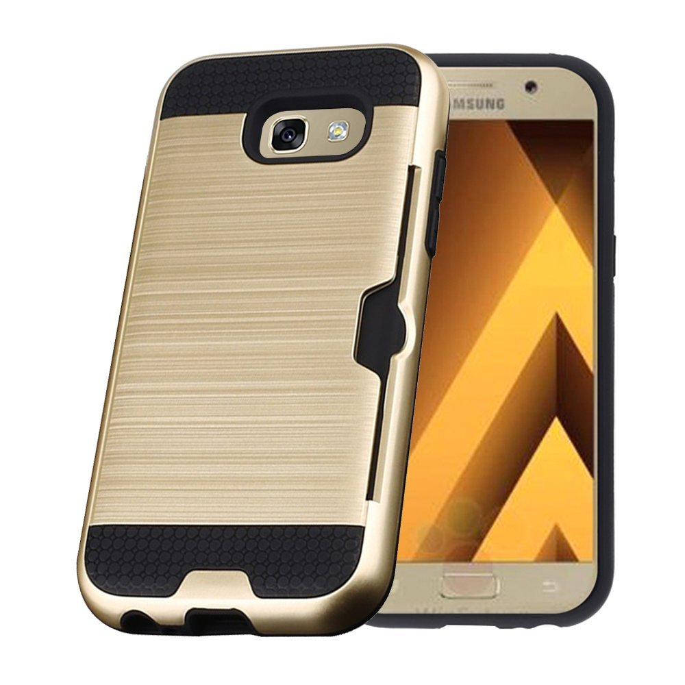 best service 6550c 343ff US $4.02 17% OFF For Coque Samsung A7 2017 Case Armor Silicone TPU +  Brushed PC Hard Case Phone Cases For Samsung Galaxy A7 2017 Cover A720  a720F-in ...