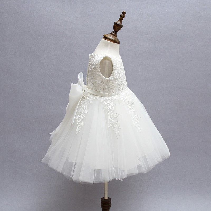 Ivory Tulle Lace Flower Girl Dress 4