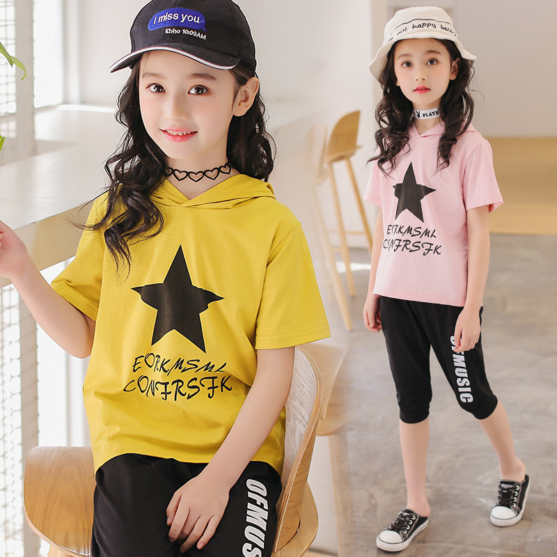 Children Clothing Set 2018 New Baby Girl Motion Suit Child Short Sleeve Leisure Time Twinset Summer Wear Kids Boys Clothes summer child suit new pattern girl korean salopettes twinset child fashion suit 2 pieces kids clothing sets suits
