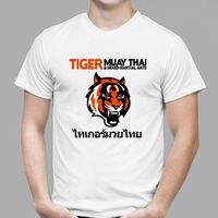 Summer TIGER MUAY THAI KICKBOXING MMA GYM Men S White Black T Shirt Plus Size S