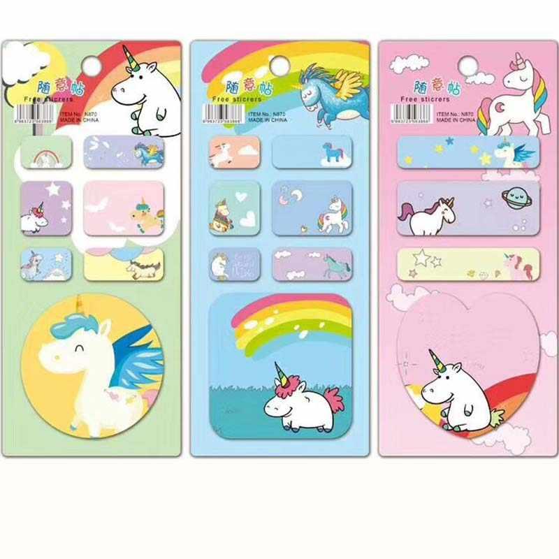 Башня блокнот милый Единорог Фламинго кактус Липкие заметки закладки для блокнота канцелярские наклейки подарок школьные принадлежности