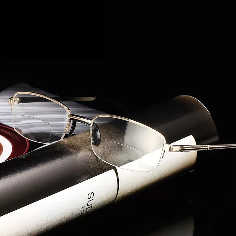 Multi-focus Reading Glasses For Both Men And Women Anti-blue Light Fatigue Folding Intelligent Zoom Glasses