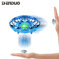 Hand Induced Hovering Floating Flight Novelty Infrared Sensor Flying Saucer UFO Hand Movements Kids Toys Mini drone LED Flash