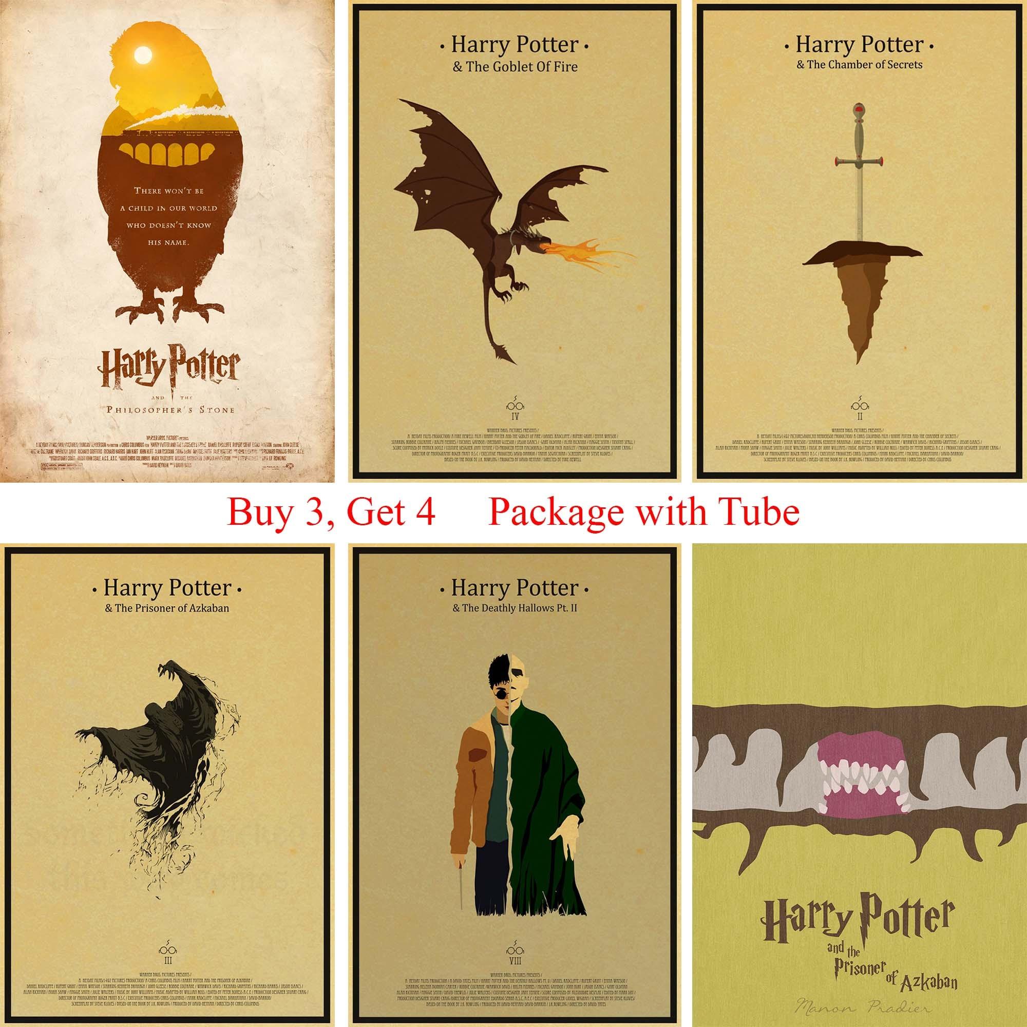 Harry Potter Posters Vintage Style Paper Prints Bar Room Decoration ...