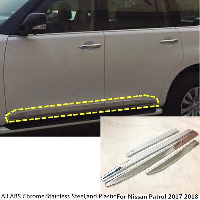 Free shipping Car ABS chrome Side Door trim Strip Molding Stream l& panel bumper hoods 4pcs & Free shipping Car ABS chrome Side Door trim Strip Molding Stream ...