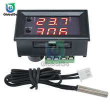 12V Digital Display Thermostat W1209WK 30CM NTC Sensor Thermistor Cable Probe Smart Thermostat Temperature Controller Regulator bht 1000 ga ntc sensor temperature controller water heating thermostat