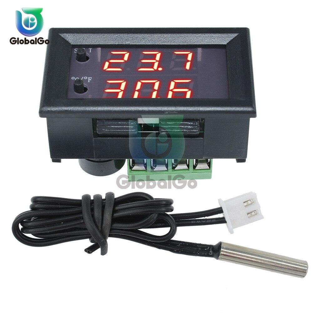 DC 12 V W1209WK W1209 Digital controlador de temperatura termostato regulador 30 CM Termistor NTC línea LED Sensor de temperatura de|Instrumentos de temperatura|   -