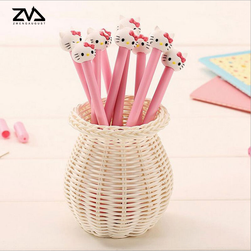 цена на 2pcs/lot Korea Kawaii cute Cat gel pen material escolar stationery canetas escolar school office supplies Free shipping