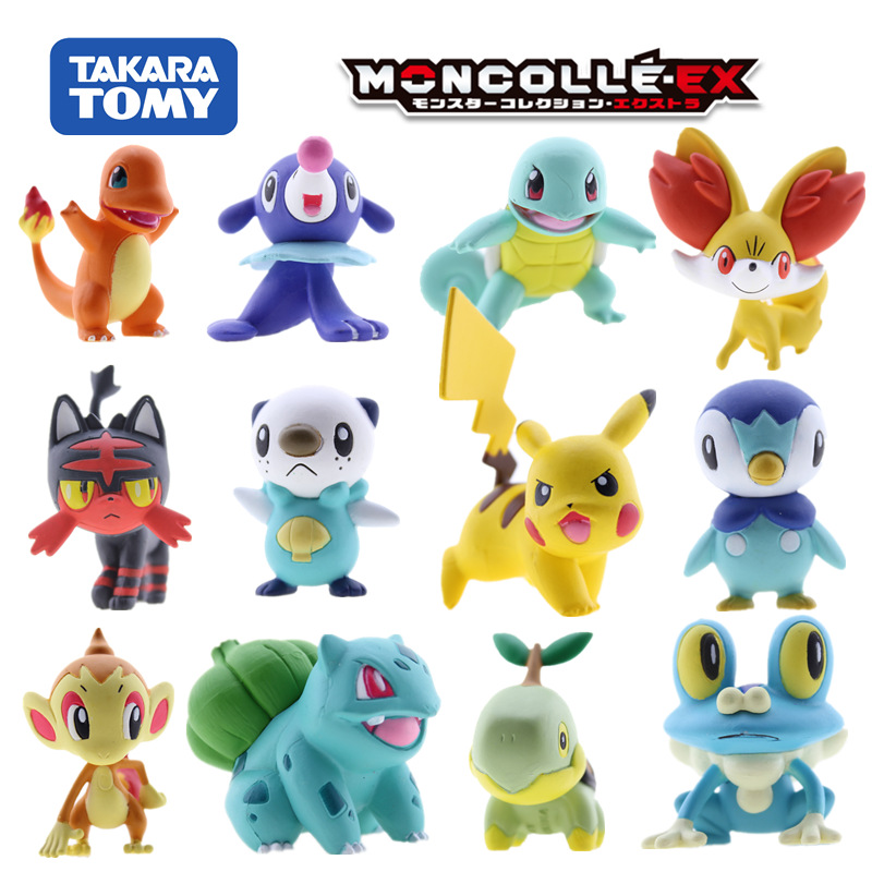 TAKARA TOMY tomica POKEMON figuren MONSTER Sammlerstücke 1,5 heißer pop miniatur anime abbildung modell kit lustige baby spielzeug serie