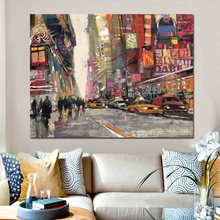 Modern Europe City Street Canvas Art Poster Print Abstract Landscape Painting on Canvas Wall Picture for Living Room No Frame(China)