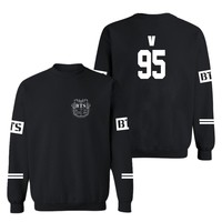 Kpop Bts Bangtan Boys Hooded Sweatshirts Black Long Sleeve Suit Hoodies Men Hiphop Cool Winter Hoodies