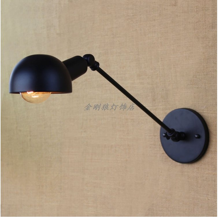 Здесь можно купить   E27 LED Wall Lamp New Lamp Industrial Loft Swing Arm Wall Sconce Retro Bedroom Fixture Lighting Iron Regulating Lamp Shade Строительство и Недвижимость