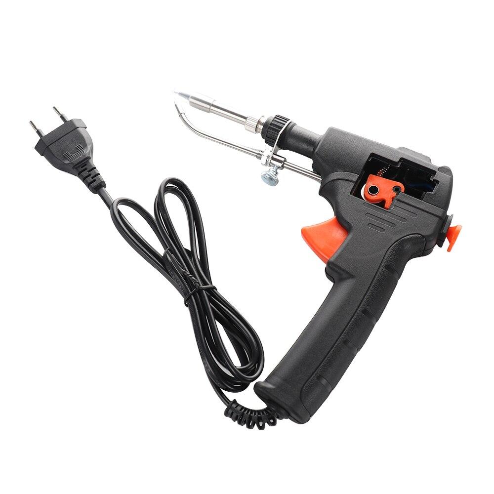 220V 60W Electric EU Automatic Send Tin Gun Soldering Iron Rework Station Desoldering Pump Welding Tool