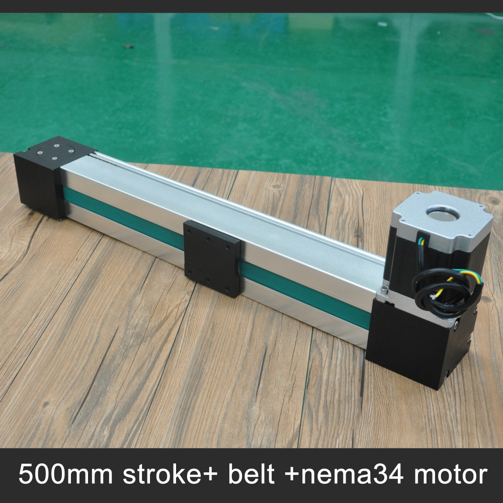 Free shipping high speed 500mm stroke belt driven linear actuator for laser cut linear guide rail high precision laser guide actuator la31 toothed belt driven