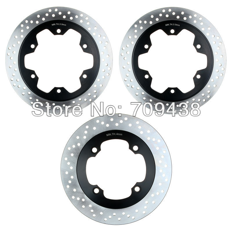 Full Set Front+Rear Brake Disc Rotor For HONDA CB750 CB 750 N/ F 1992-2002 1993 1994 1995 1996 1997 1998 1999 2000 2001 2 pieces motorcycle front disc brake rotor scooter front rear disc brake rotor for honda cb400 1994 1995 1996 1997 1998