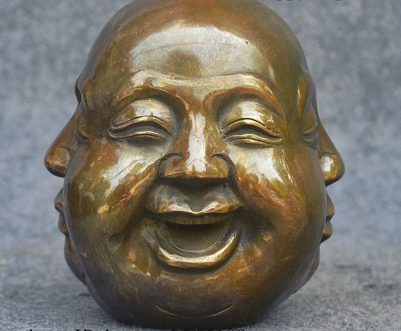 6 China Buddhism Bronze Happy Anger Sorrow Joy 4 Face Maitreya Buddha Statue6 China Buddhism Bronze Happy Anger Sorrow Joy 4 Face Maitreya Buddha Statue