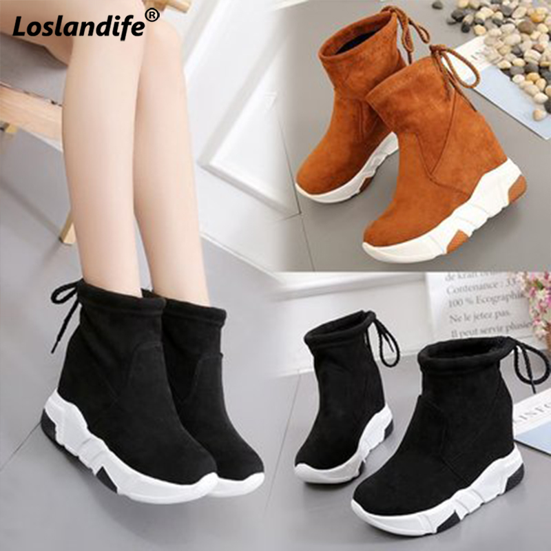Detail Feedback Questions about 2018 new women s winter boots single ankle snow  shoes Korean high top thick casual female shoes women tide simple ladies ... 954c166fded2