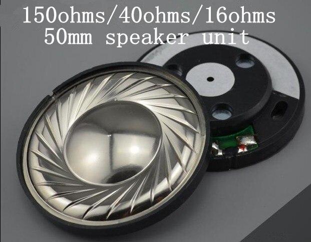 hifi 50mm Composites Titanium film composite membrane speaker unit 1pair=2pcs