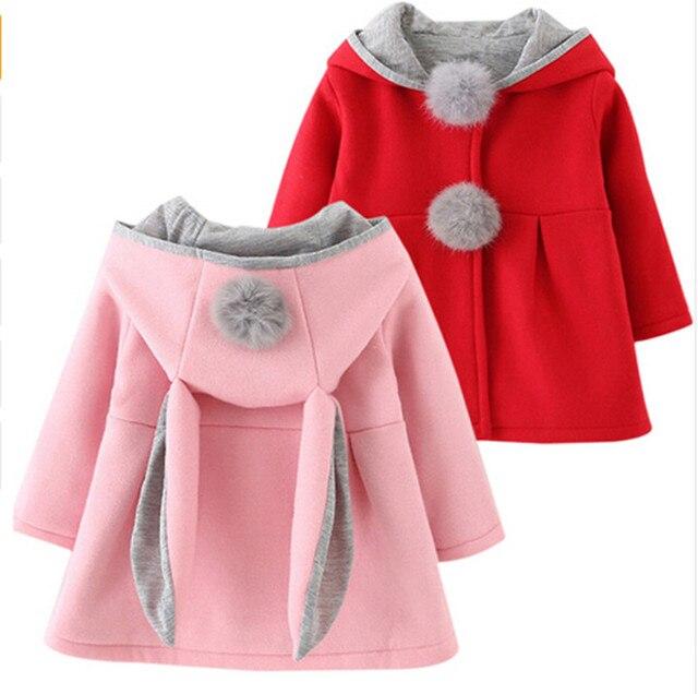 fe6c85984f90 Children Bunny Jacket Winter Warm Girl Rabbit Autumn Cute Coats ...
