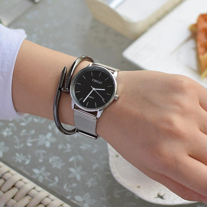Fashion Women Watch Elegant Casual Steel Mesh Quartz Watches Ladies Boutique Wristwatch 2017 For Gift fashion elegant m