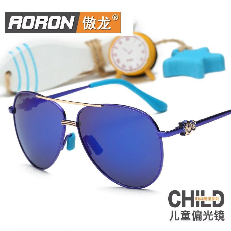 c9a4231c6 2016 Novo Padrão Crianças Óculos de Luz Polarizada Óculos de Sol Clássicos  óculos de Sol Das Crianças do Sexo Masculino Menina Tendência 576