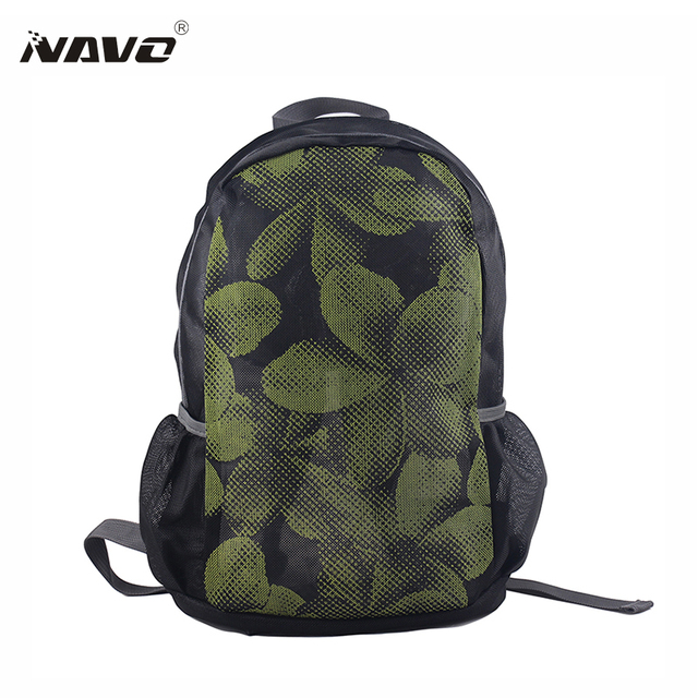 Navo Mesh Backpack Breathable Zipper Travel Backpacks Transpa School Bookbag For Agers Mochilas Folding Bag
