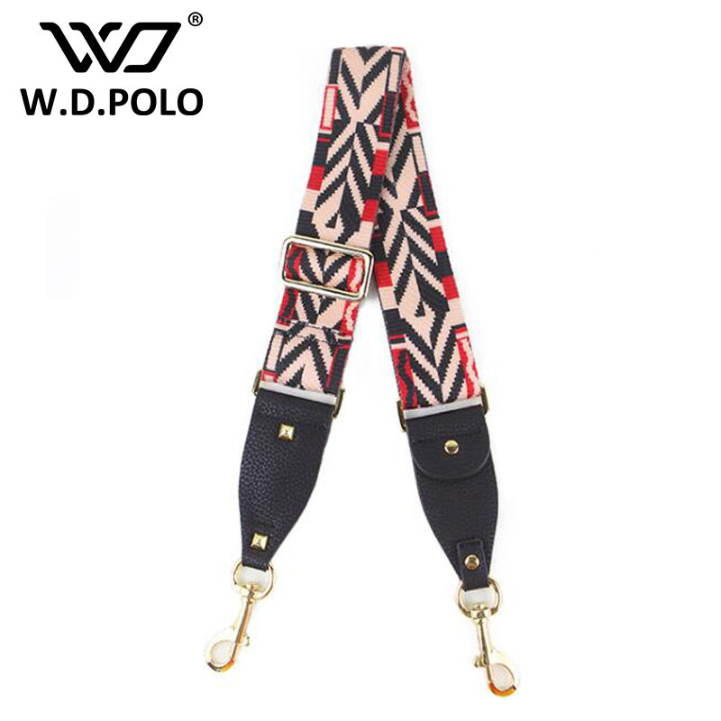 WDPOLO strap you patchwork women bag strap couple handbag strap woven national stylish design rainbow color bag acessories C025