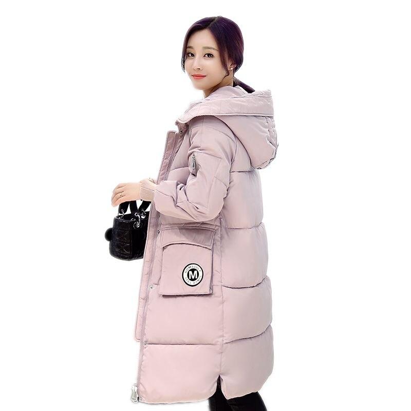 2016 yeni kış ceket ekmek pamuklu giysiler kadın Kore moda İnce Aşağı yastıklı pamuk Parka kadın ceket uzun bölümler