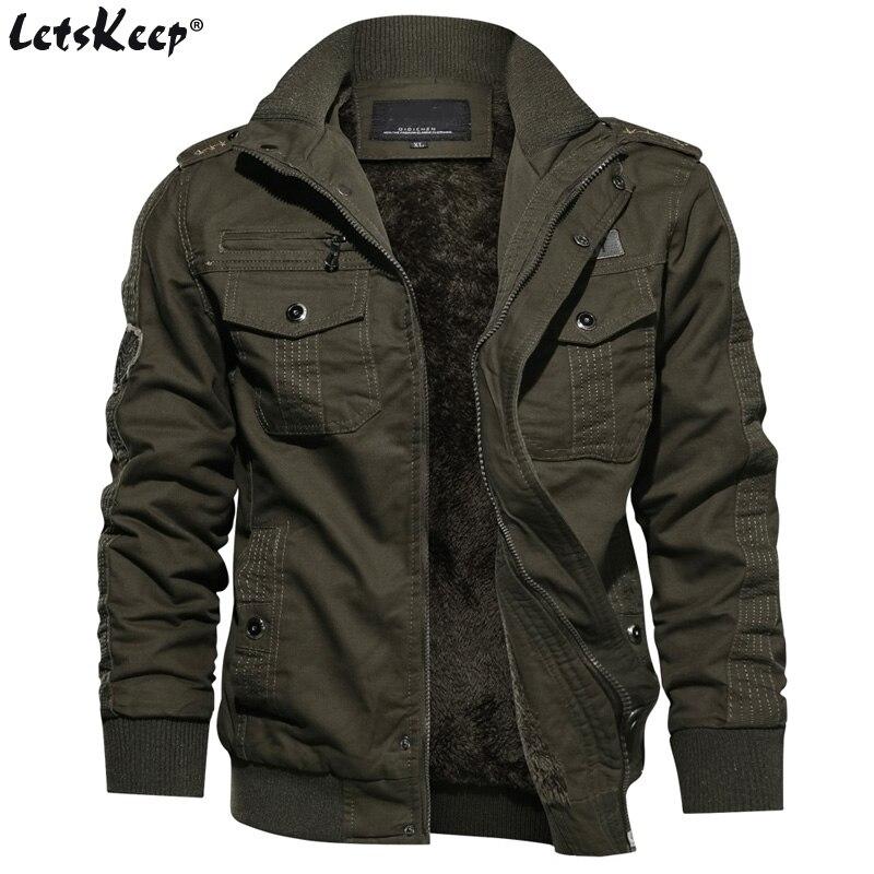 M-6XL LetsKeep зимняя флисовая куртка-пилот мужчины значки в стиле милитари Куртки пальто мужские прочные парки верхняя одежда Большие размеры, ...