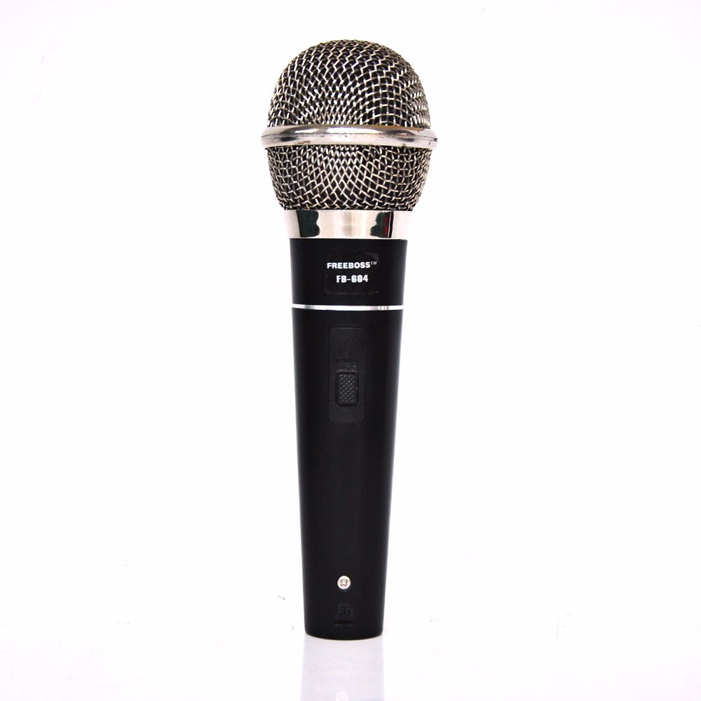 FREEBOSS FB-604 Handheld Vocal Dynamic Microphone Professional KTV Wired Microphone for Mic Karaoke Party freeboss fb w01 wired dynamic retro