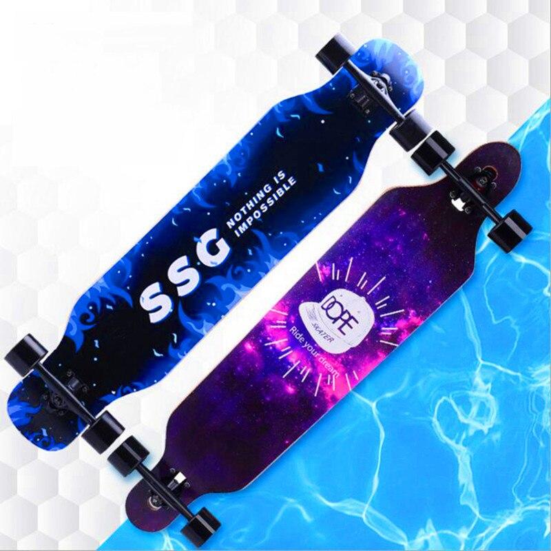 Professional Maple Complete Skateboard Four-wheels Street Plate Unisex Dance Board Downhill Board