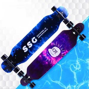 Image 1 - Professional Maple Complete Skateboard Four wheels Street plate Unisex Dance board Downhill board