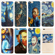 Van Gogh Starry Night hard clear phone Case cover for Samsung s8 s9 s10plus S6 S7Edge for iPhone 7 6s 8plus 5 5c 4 X XS XR XSMAX customized diy phone case printed hard clear cover case for apple iphone x xs 8 8plus 7 6splus se 5 for samsung s8 s8plus s7 s6