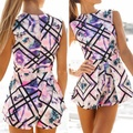 Sexy Floral Playsuit Bodycon Women Jumpsuit Romper Shorts Party Clubwear S-XL 2016 Summer