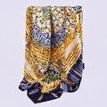 HA097 оптовая новая Мода шарф Шелковые шарфы креп-сатин большой площади Женщины Шарфы