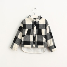 Baby Girls Classic Plaid Shirts Kids Girls Fashion Cotton Blouse 2016 Babies Autumn Christmas clothing children's clothes