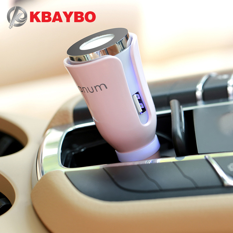 Car Aroma Humidifier Car Aromatherapy Mat Diffuser With Dual Power USB Car Charger 5-Color Selection